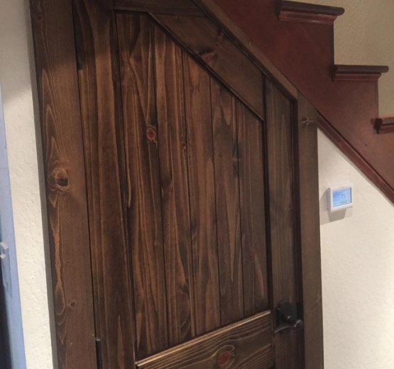 door-under-stairs